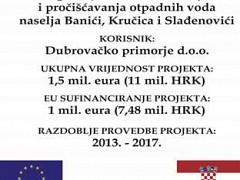 Izgradnja sustava odvodnje i pročišćavanje otpadnih voda naselja Banići, Kručica i Slađenovići
